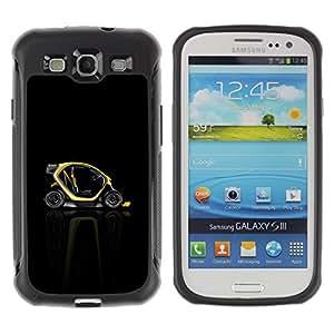 Suave TPU Caso Carcasa de Caucho Funda para Samsung Galaxy S3 I9300 / Abstract Minimalist Smart Car / STRONG