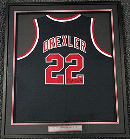 bcca27392b5 Image Unavailable. Image not available for. Color: Signed Clyde Drexler  Jersey ...