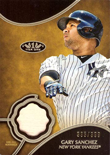 2019 Topps Tier One Relics #T1R-GSA Gary Sanchez Game Used Bat Baseball Card - Only 399 made!