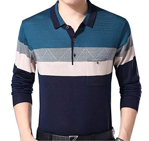 Maglione Uomo Polo Gladiolusa 1585buioblu Business T Unita shirt Tinta Padre FxdxTZ