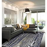 Grand Bazaar Capri Charcoal Polypropylene Machine-made Rug (5  x 8 )