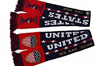 New USA National Soccer Team 2014 World Cup Acrylic Knitted Scarf