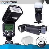 DigitalMate DMSB680N I-TTL Dedicated Flash with 18-180 Power Zoom, Bounce & Swivel (Black)