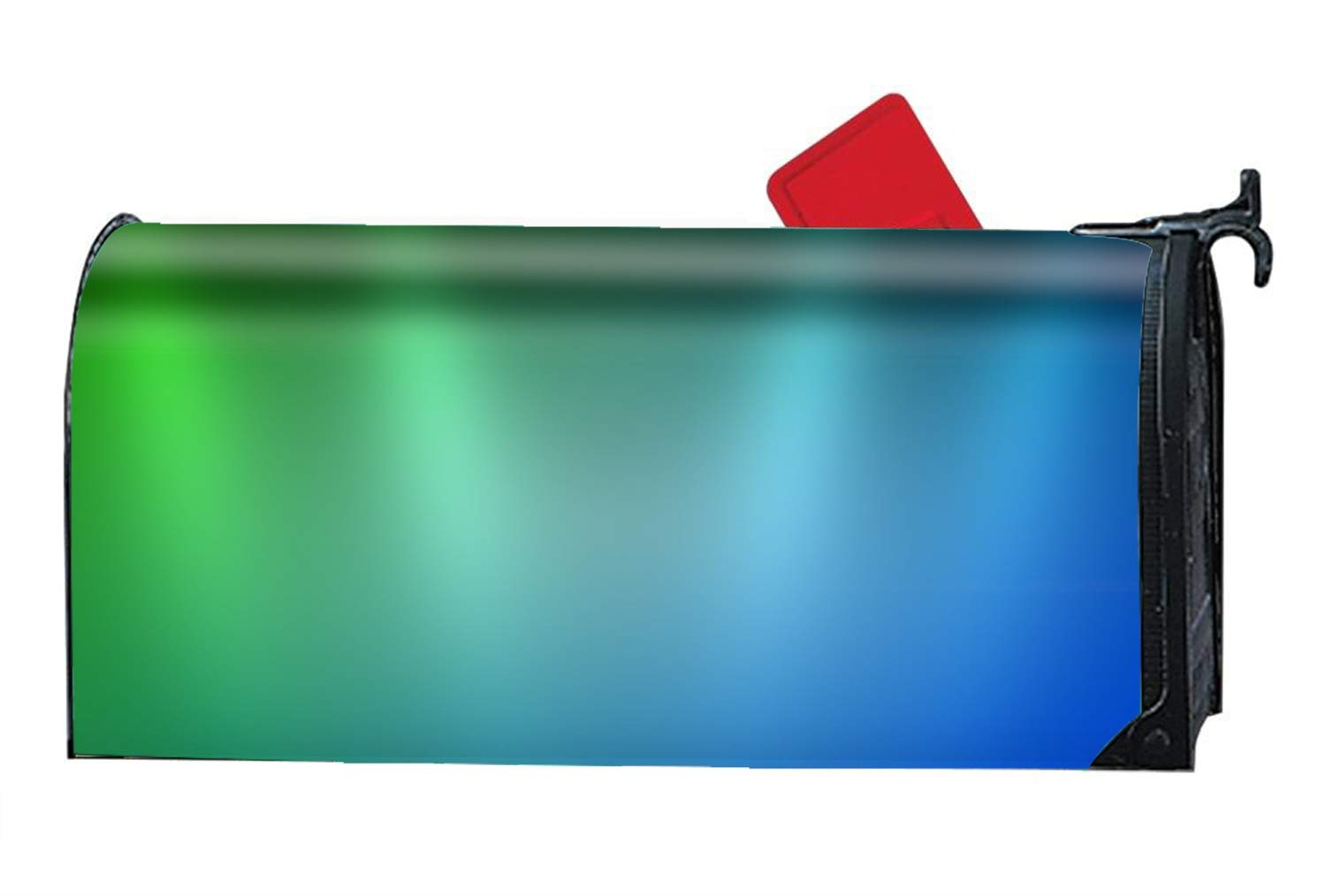 Abstract Colors Artistic Blue Green Light Mailbox Cover Decorative Mailbox Wrap