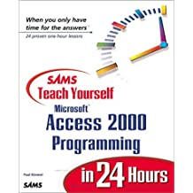 Sams Teach Yourself Microsoft Access 2000 Programming in 24 Hours