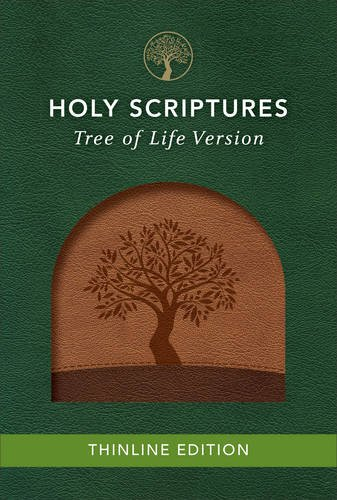 TLV Thinline Bible, Holy Scriptures, Walnut/Brown, Tree Design - Jesus Tree Family