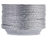 [50 Pack - 9' Size] Pie Pans - HEAVY-DUTY - Disposable Aluminum Foil Pie Plates, Standard Size