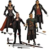 Once Upon A Time: Hook, Emma Swan, Regina, and Robin Hood Action Figure Set of 4