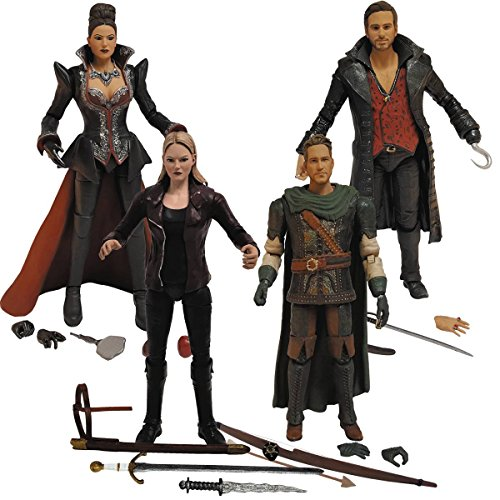 Once Upon A Time: Hook, Emma Swan, Regina, and Robin Hood Action Figure Set of 4 -