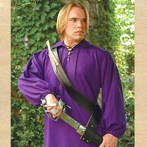 Deluxe Adult Costumes - Pirate's black leather cutlass baldric with 2 bone handle throwing knives (cutlass sword not included)