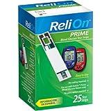ReliOn Prime Blood Glucose Test Strips (25)
