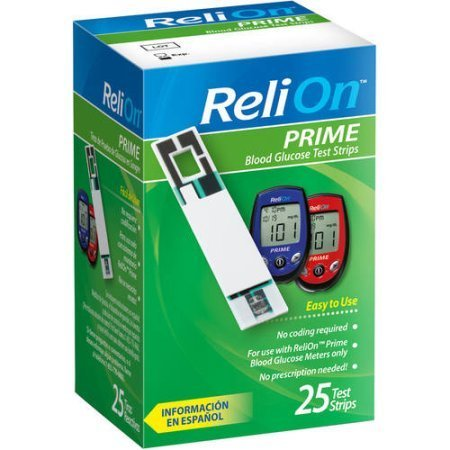 ReliOn Prime Blood Glucose Test Strips (25)