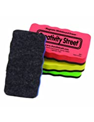 Creativity Street Magnetic Chalk and Whiteboard Erasers, 4-Pa...