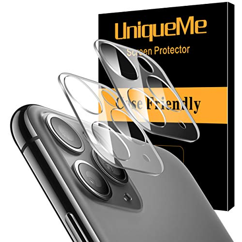 [ 2 Pack] UniqueMe Camera Lens Protector for iPhone 11 Pro/iPhone 11 Pro Max Tempered Glass, Easy Install 9H Hardness HD Clear from UniqueMe