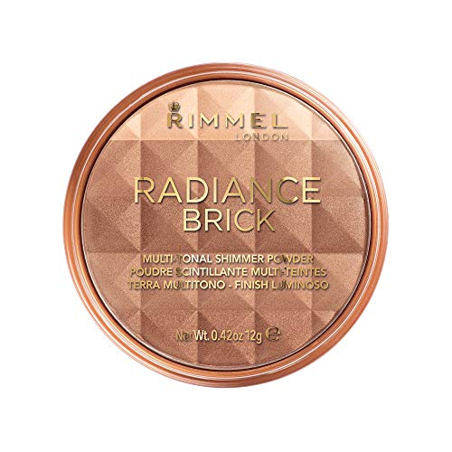 - Rimmel Radiance Shimmer Brick Multi-Tonal Bronzer & Highlighter Palette- Dark