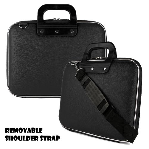 Caddy Series Premium Leather Hard Briefcase Carrying Cube with Handles and Shoulder Straps For Samsung Series 9 13.3-Inch Ultrabook