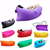 Inflatable Lounger, Air Chair Topie Original, Ripstop Parachute Polyester Material, Easiest Lounger to Inflate, Lay Bag Air Hammock
