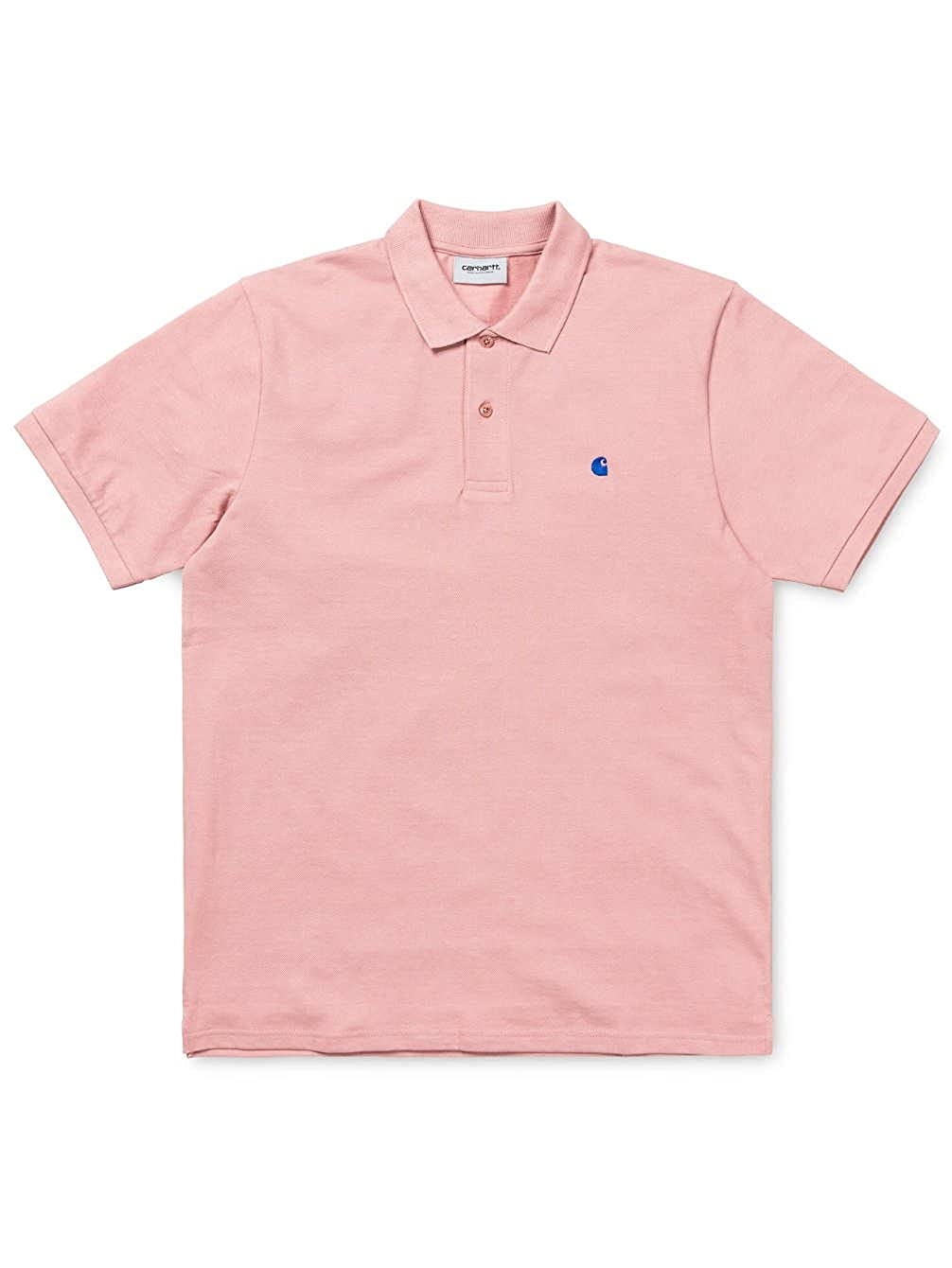 Carhartt S/S Madison Polo Soft Rose/Sapphire: Amazon.es: Ropa y ...