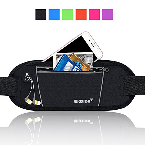 Price comparison product image AIKELIDA Running Belt / Fanny Pack / Fitness Belt / Waist Pack for iPhone,  Samsung Edge / Note / Galaxy - Men,  Women during Sports Fitness,  Running,  Cycling,  Hiking,  Travel,  Workout - Black