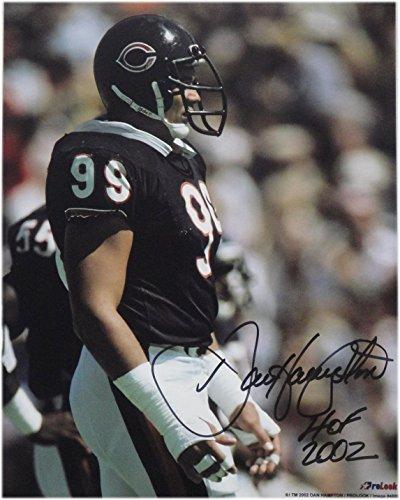 (Dan Hampton Hand Signed Autograph 11x14 Photo Chicago Bears HOF 2002 Look Right)