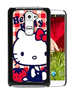 For LG G2,Hello Kitty 53 Black Protective Case For LG G2