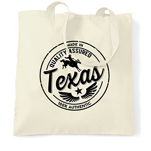 Made in Texas Austin Houston Dallas NASA Seaworld Distressed Fort Worth Amarillo Canyon Georgetown Birthday Present Novelty Design Shopping Tote Bag by Valentine - Texas Shopping Worth Fort