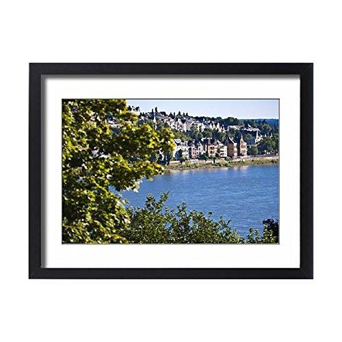 Framed 24x18 Print of The Rhine River, Western Germany, Europe (11885486) (Framed River Rhine)