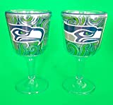 Seattle Seahawks Goblet wine, Beer glasses. set of 2