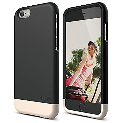 iPhone 6 Case, elago [Glide][Black / Champagne Gold] - [Mix and Match][Premium Armor][True Fit] – for iPhone 6 (Phone Covers For Iphone 6 Elago)
