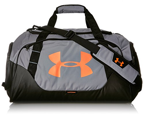 Under Armour Undeniable Duffle 3.0 Gym Bag, Steel (037)/Magma Orange,