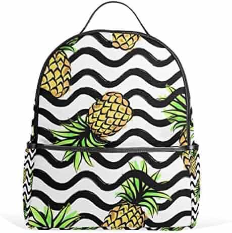602167ee6b JSTEL Pineapple School Backpack 2th 3th 4th Grade for Boys Teen Girls Kids