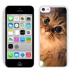 Hot Sell Design Lovely Christmas Cat White Hard Shell Iphone 5c Plastic Phone Case