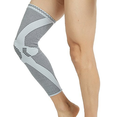 KANGDA Sport Knitted Compression Leg Knee Sleeve Support Warm Muscle Fixation Calf Thigh Protection 4-Way Stretch Pain Relief HT-03XL by KANGDA