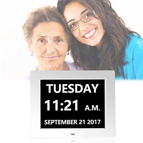 Digital Day Clock, 3 Medication Alarms plus 5 Alarms Options
