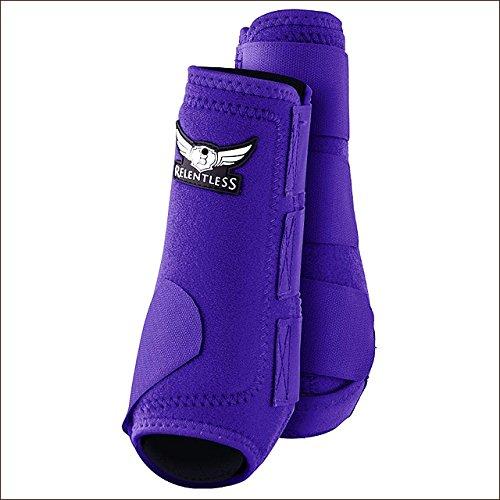 CACTUS ROPES Medium Relentless All Around Horse Leg Sport Boot 4 Pack Purple