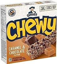 QUAKER Chewy Caramel & Chocolate Granola Bars (6 Bars x 26 g), 156 g (Pack of