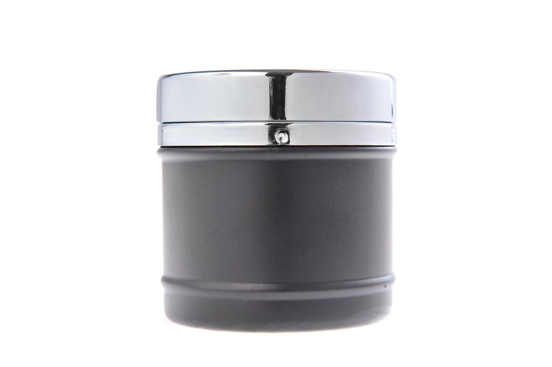 The Khan Outdoor /& Lifestyle Company Cendrier /él/égant et Rond Couleur: Noir Fait en Alliage de Zinc DE avec Design de Restaurant am/éricain Mod 817-04