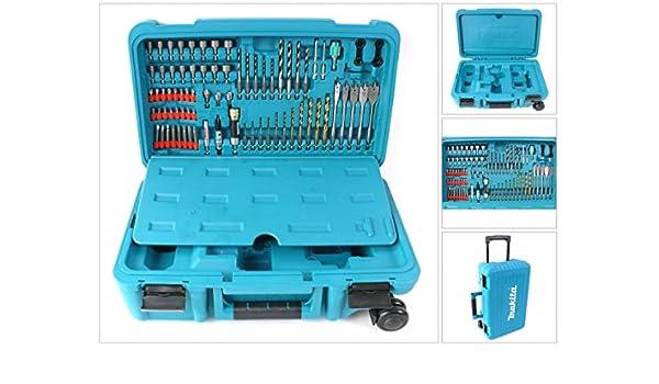Makita caja de herramientas con ruedas de transporte con 79 tlg juego de herramientas para 12, 14.4 18 V Ni-MH Ni-CD para - con ruedas: Amazon.es: Bricolaje y herramientas