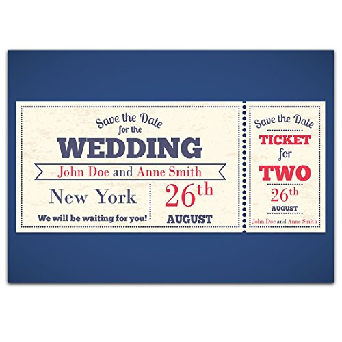 Ticket Movie Show Save The Date Wedding Invitations Date Ticket