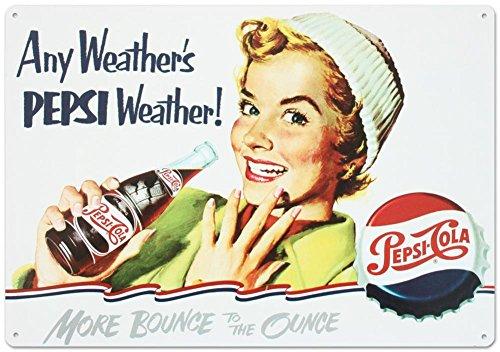 Pepsi - Any Weather Metal Sign Pepsi Cola Metal Sign