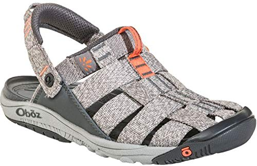 Oboz Campster Sandal - Women's Heather Gray/Coral 7.5