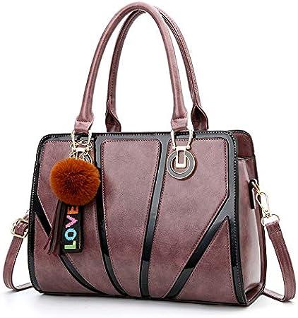 Color : Dark Purple JUROUXIYUJI Womens Shoulder Bag Fashion Handbags Ladies Handbag Messenger Bag Casual Bag