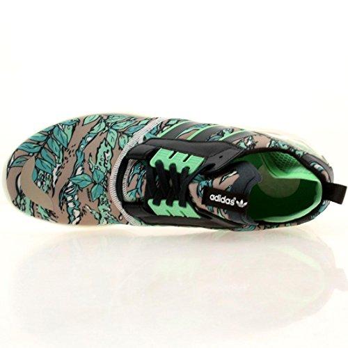 Adidas Mens Zx 8000 Boost Originali Scarpe Da Corsa Inchiostro A Benzina, Semi-flash Verde, Bianco Crema