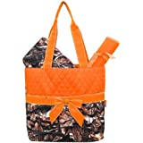 New Design Camo Quilted 3pcs Diaper Bag-orange