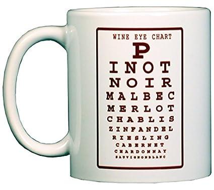 Amazon Wine Eye Chart 11 Oz Ceramic Coffee Mug Kitchen Dining
