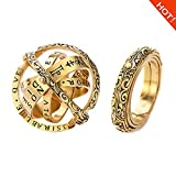 XIANGMENG Copper Gold Plated Astronomical Finger