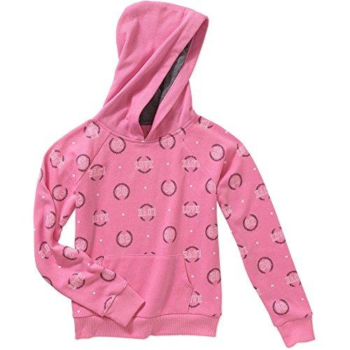 Jacket Girls Danskin (Danskin Girls Fleece Pullover Hoodie Jacket (Pink) (14/16, Pink/Love))