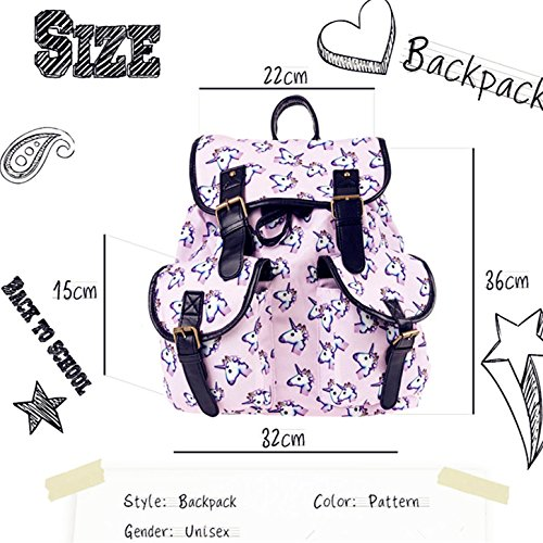 School Beige Double Animals Unicorn Emoji Pocket Kukubird Gym Book Cats Rucksack Pattern Classic Uni Backpack Various Sports Vintage nzfT4YdYqx