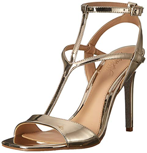 Badgley Mischka Jewel Women's Kiki Heeled Sandal, Gold/Metallic, 10 M - Jewel Metallic Sandals