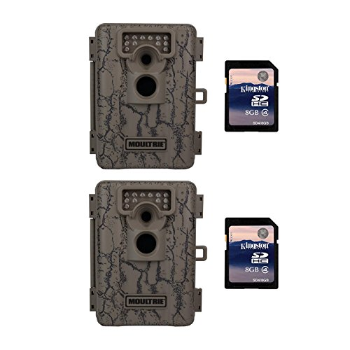 Moultrie A-5 5 MP Trail Game Cameras, 2-Pack w/ SD Cards (Certified Refurbished) (5 Mp Digital Game)